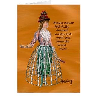 Bessie e seu cartão da saia da aro