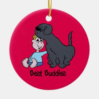 Best Buddies Ornamento De Cerâmica Redondo
