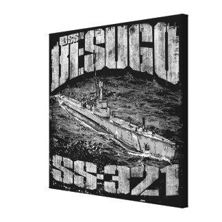 Besugo submarino esticou o impressão das canvas