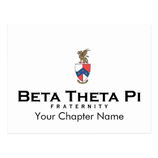 Beta teta Pi com crista - cor Cartão Postal