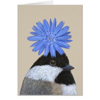 Betsy o cartão do chickadee