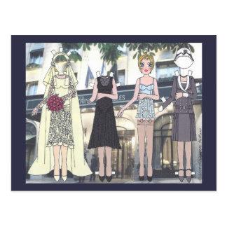 Betty, noiva do art deco do cartão de papel da