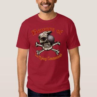 Beware baixos t-shirt da obscuridade das balas de