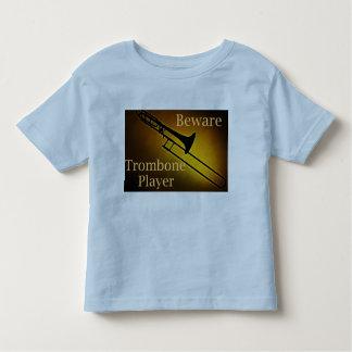 Beware camisas do jogador de Trombone Tshirt