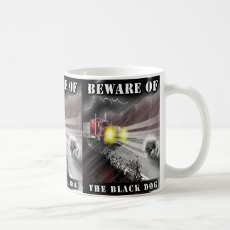 Beware da caneca do cão preto