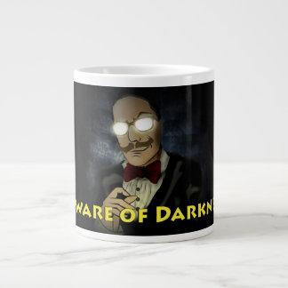Beware da caneca w/Text do logotipo da escuridão