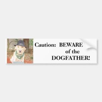 BEWARE do DOGFATHER Adesivos
