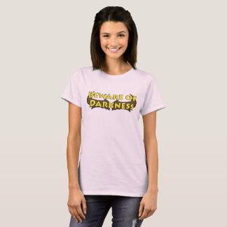 Beware do t-shirt das senhoras do logotipo do camiseta