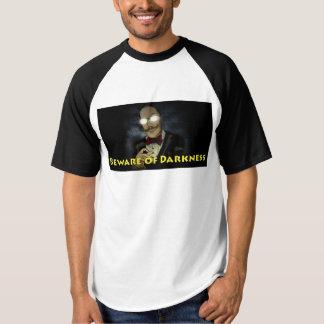 Beware do t-shirt do basebol do Raglan dos homens Camiseta