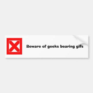 Beware dos geeks que carregam gifs adesivo para carro