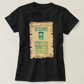 Beware o poster vintage do monstro de camiseta
