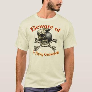 Beware t-shirt leves das baixas balas de canhão do camiseta