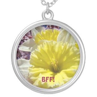 BFF! primavera amarelo das flores do Daffodil dos  Bijuterias