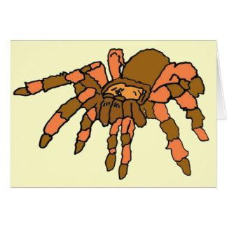 BG cartões do cumprimento e de nota da aranha