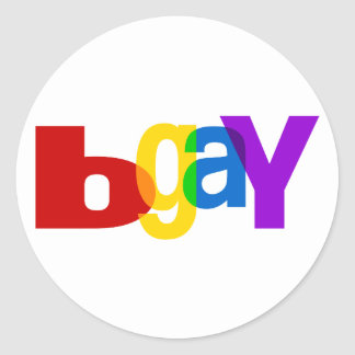 bGay Adesivo Em Formato Redondo