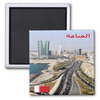 BH - Barém - Manama - estrada & torres Ímã Quadrado