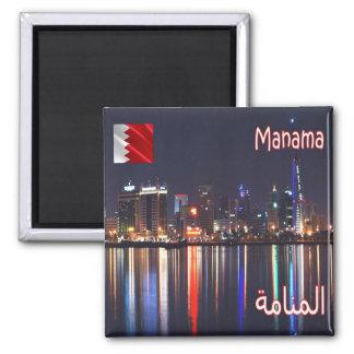 BH - Barém - Manama - opinião da noite Ímã Quadrado