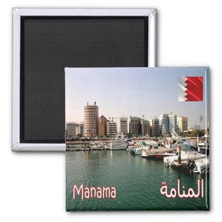 BH - Barém - Manama - panorama Ímã Quadrado