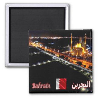 BH - Barém - mesquita grande em a noite Ímã Quadrado