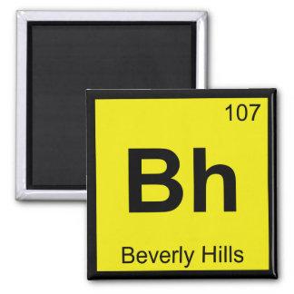 Bh - Beverly Hills California Chemistry Symbol Refrigerator Magnets