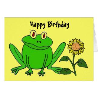 BH cartão de aniversário engraçado do sapo