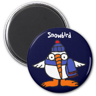 BH ímã engraçado do Snowbird Ímã Redondo 5.08cm