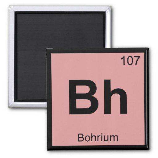 BH - Símbolo da mesa periódica da química de Bohri Imas De Geladeira