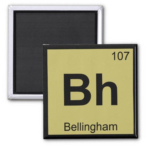 BH - Símbolo da química de Bellingham Washington Ima De Geladeira