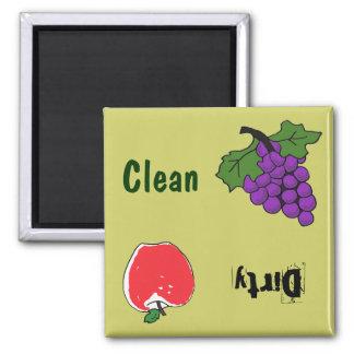 BH uvas e ímã da máquina de lavar louça de Apple Ímã Quadrado