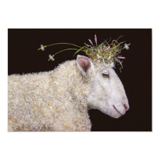 Bianca que a festa de noivado dos carneiros convite 12.7 x 17.78cm