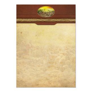 Bíblia - salmo 23 - meu runneth do copo sobre 1920 convite 12.7 x 17.78cm