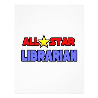 Bibliotecário de All Star Modelo De Panfletos