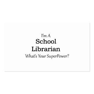 Bibliotecário de escola cartão de visita