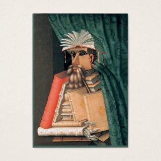 Bibliotecário, escritor, pesquisador - frente e cartão de visitas