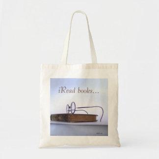Bibliotecário nerdy dos vidros de leitura do sacola tote budget