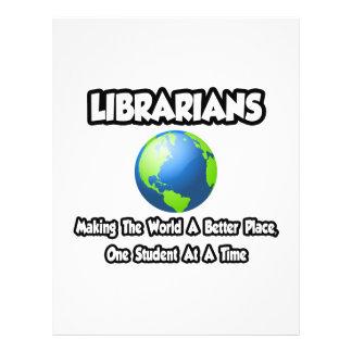 Bibliotecários… que fazem ao mundo um lugar melhor panfletos coloridos