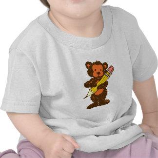 Bichinho de pelúncia teddy bear lápis pencil tshirt