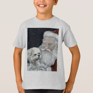 Bichon misturado Shihtzu & camisa da arte T do