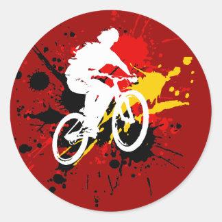Bicicleta Adesivos Redondos