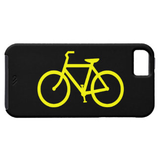 Bicicleta amarela capa tough para iPhone 5