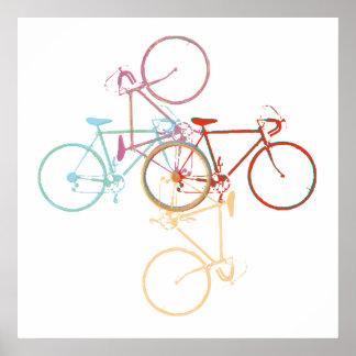 Bicicleta-arte/decoração Impressão