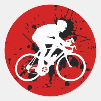 Bicicleta Adesivos Em Formato Redondos