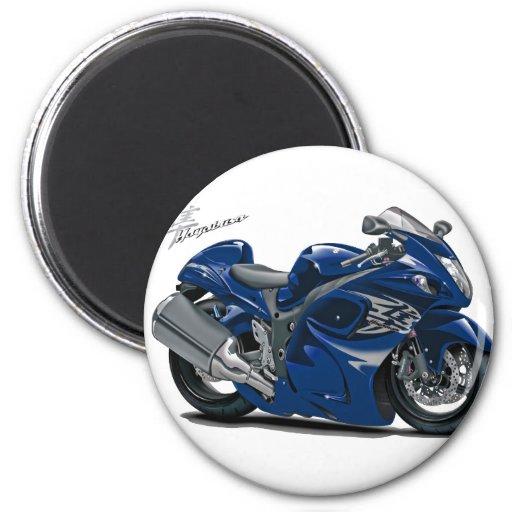 Bicicleta azul escuro de Hayabusa Ima