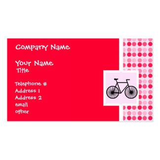 Bicicleta bonito cartão de visita
