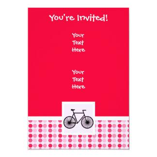 Bicicleta bonito convite 12.7 x 17.78cm