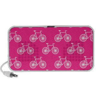 Bicicleta branca teste padrão de ciclagem Rosa d