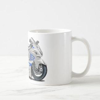 Bicicleta Branco-Azul de Hayabusa Caneca