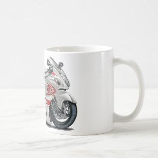 Bicicleta Branco-Vermelha de Hayabusa Canecas