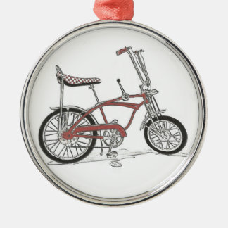 bicicleta clássica da bicicleta do músculo da arra enfeites para arvores de natal