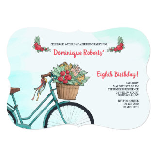 Bicicleta com convite das flores